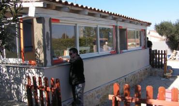 SAINT GENIES DE MALGOIRES - 30190 - Fermeture de terrasse, véranda composée de menuiseries ALU sur mesure