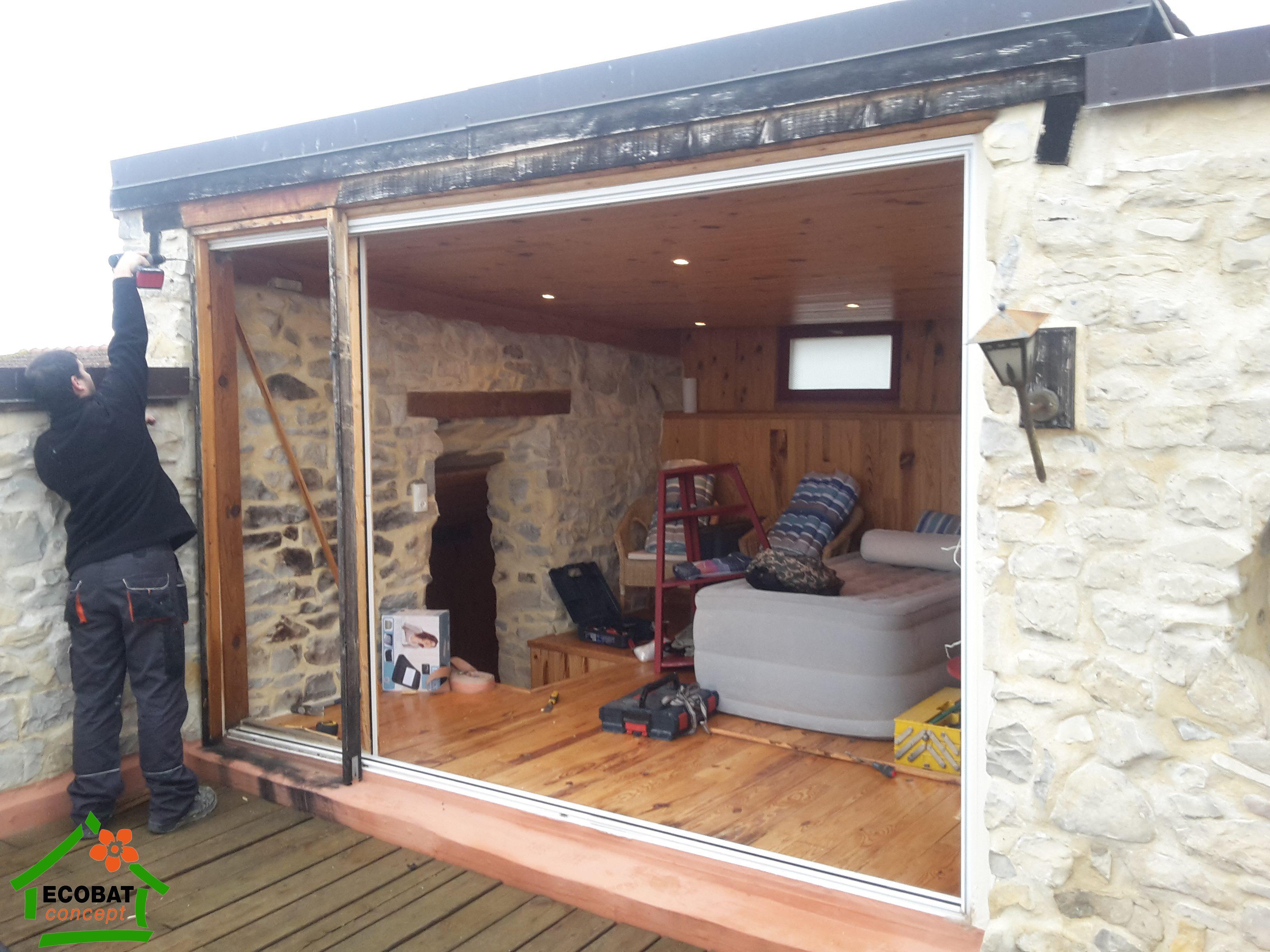 Porte vitr e coulissante ext rieure - Porte vitree exterieure aluminium ...