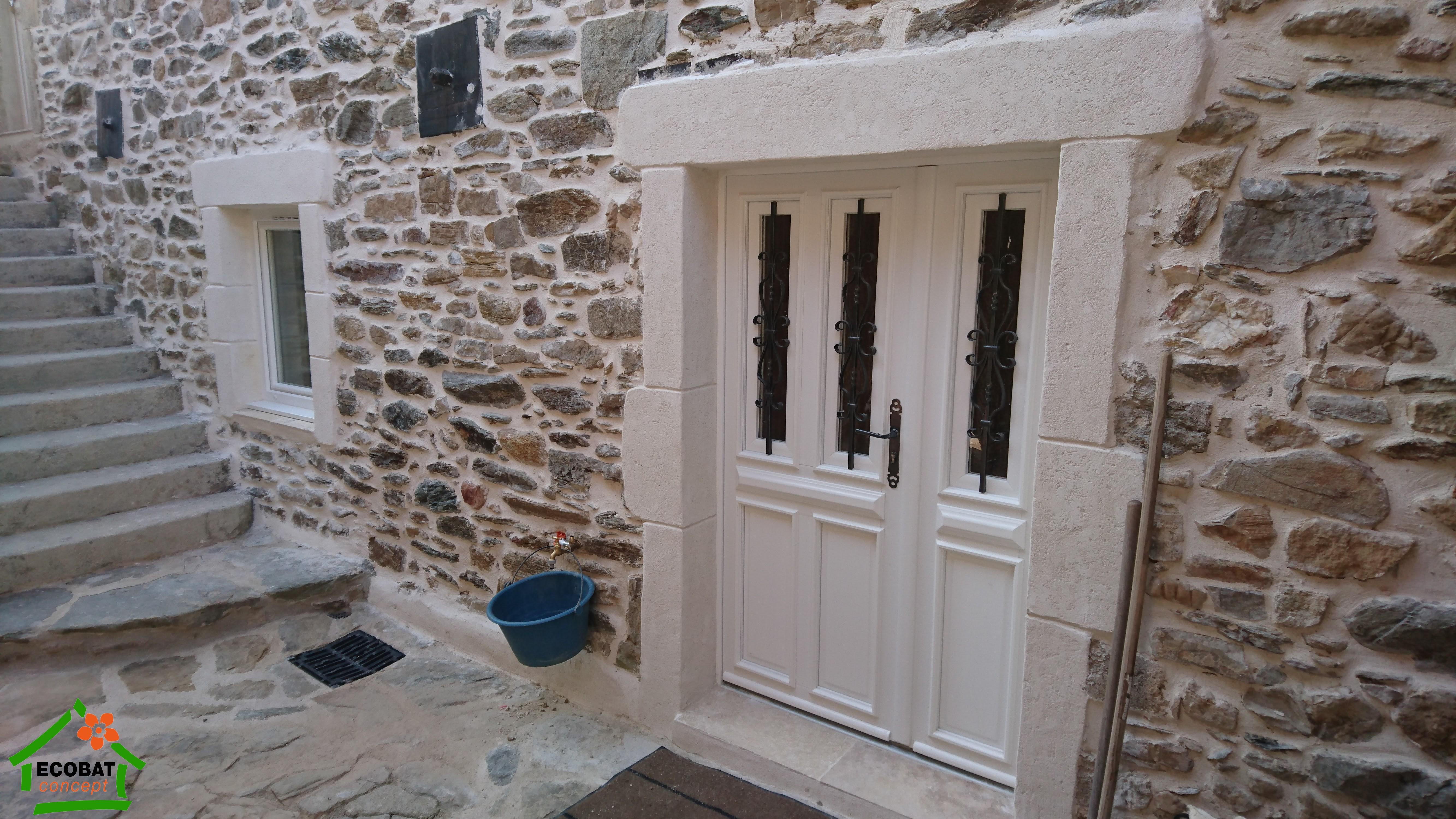 Branoux portes entree et menuiseries pvc dans l 39 ancien for Achat porte fenetre pvc