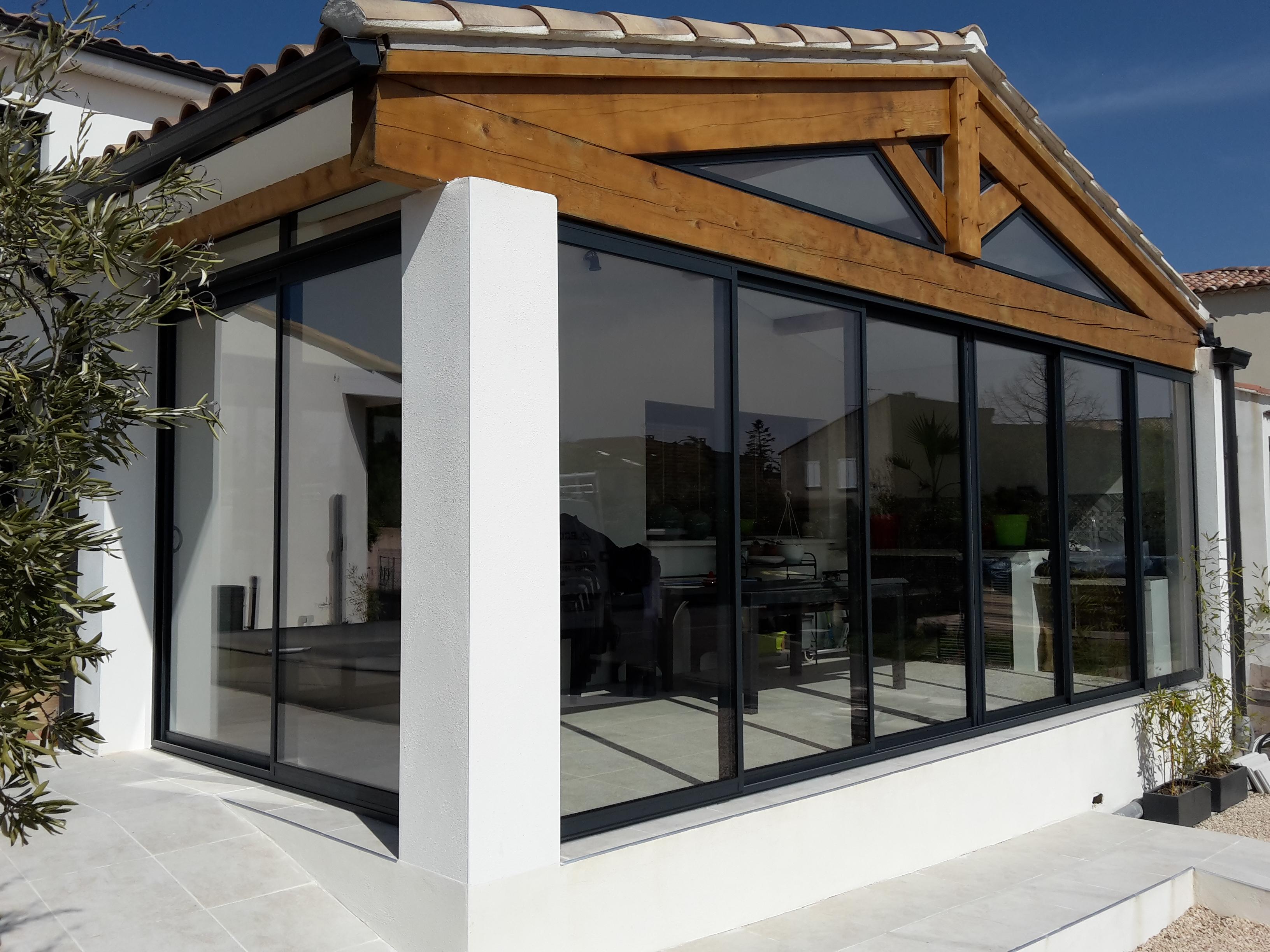 veranda aluminium acheter fen tres n mes gard al s anduze. Black Bedroom Furniture Sets. Home Design Ideas