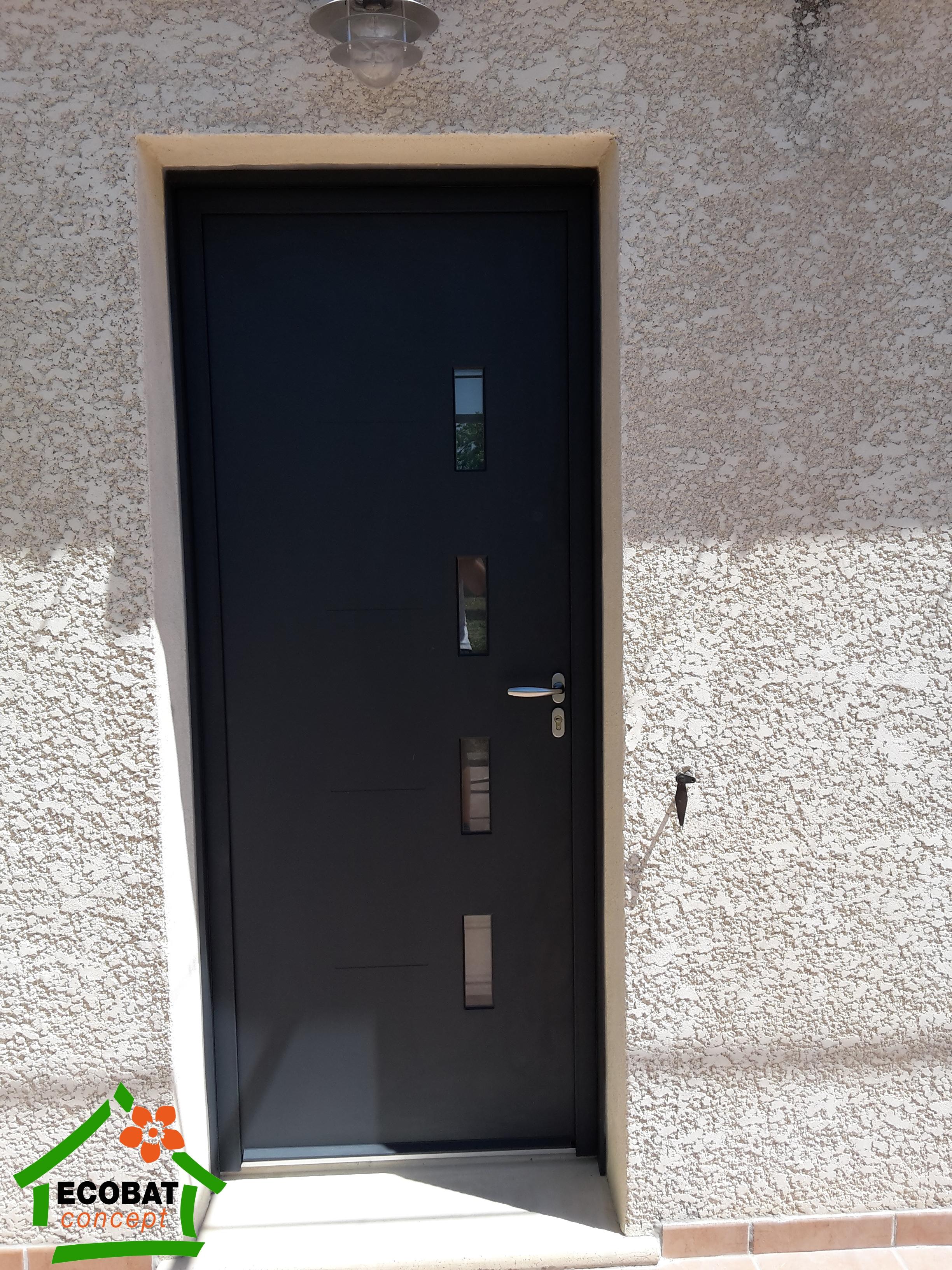 SAINT CHAPTES PORTE ENTREE Et COULISSANT ALU Acheter Portes - Porte d entrée coulissante